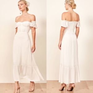 NWT Reformation Butterfly Dress Ivory Size 12